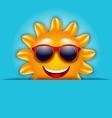 Cool Summer Sun in Sunglasses Beautiful Card vector image