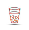 ice tea line icon soda drink sign vector image
