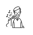 line icons - karaoke party celebration birthday vector image