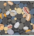 River stones seamless pattern vector image