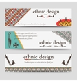 Ethnic design banners template vector image
