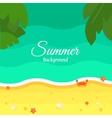 Summer Beach Background in Flat Design vector image