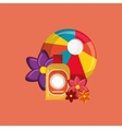 beach ball vacation travel icons image vector image