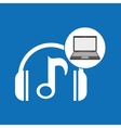 laptop music technology note headphones vector image