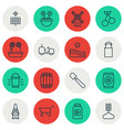 set of 16 gardening icons includes sweet berry vector image