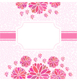 decorative flower background with place for text vector image