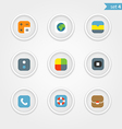 Color interface icons collection vector image