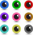 Eye Ball Multicolor vector image