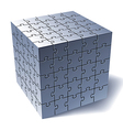 Jigsaw puzzle cube vector image vector image