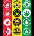 Cannabis Marijuana hemp leaf symbol vector image