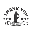 Thank you text badge vector image