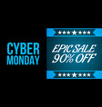 cyder monday shopping sale concept vector image