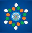 india flag color balloon vector image