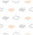 light pink baby clouds seamless pattern vector image