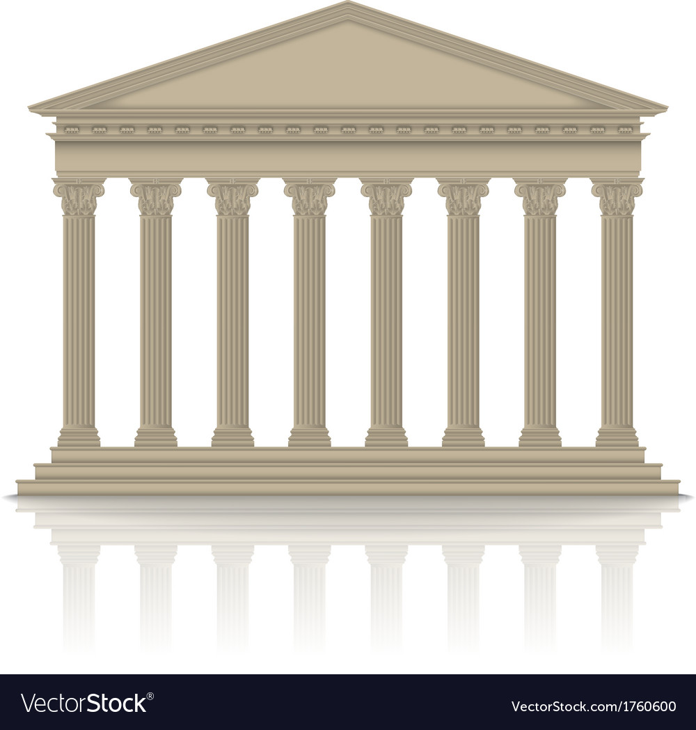Romangreek pantheon vector