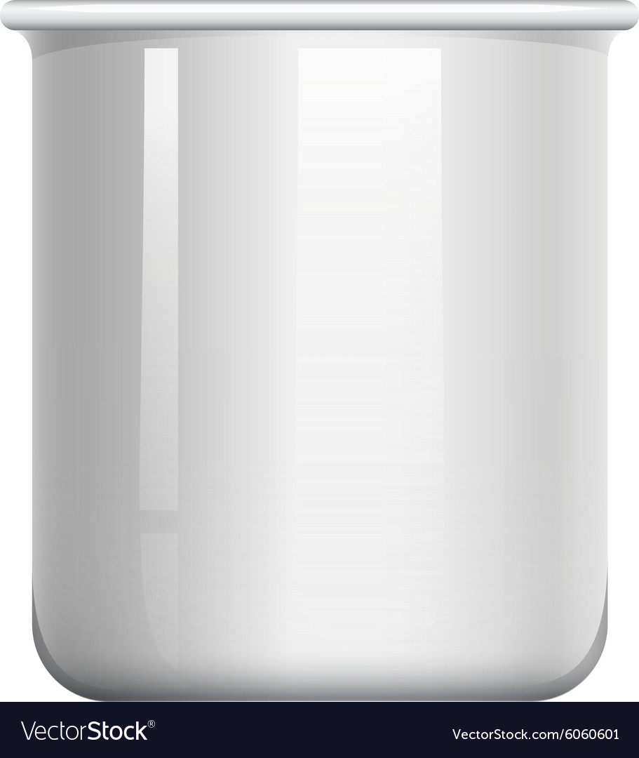 Glass beaker on white vector