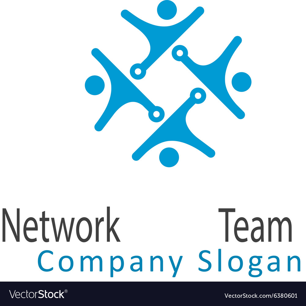 Network team design vector