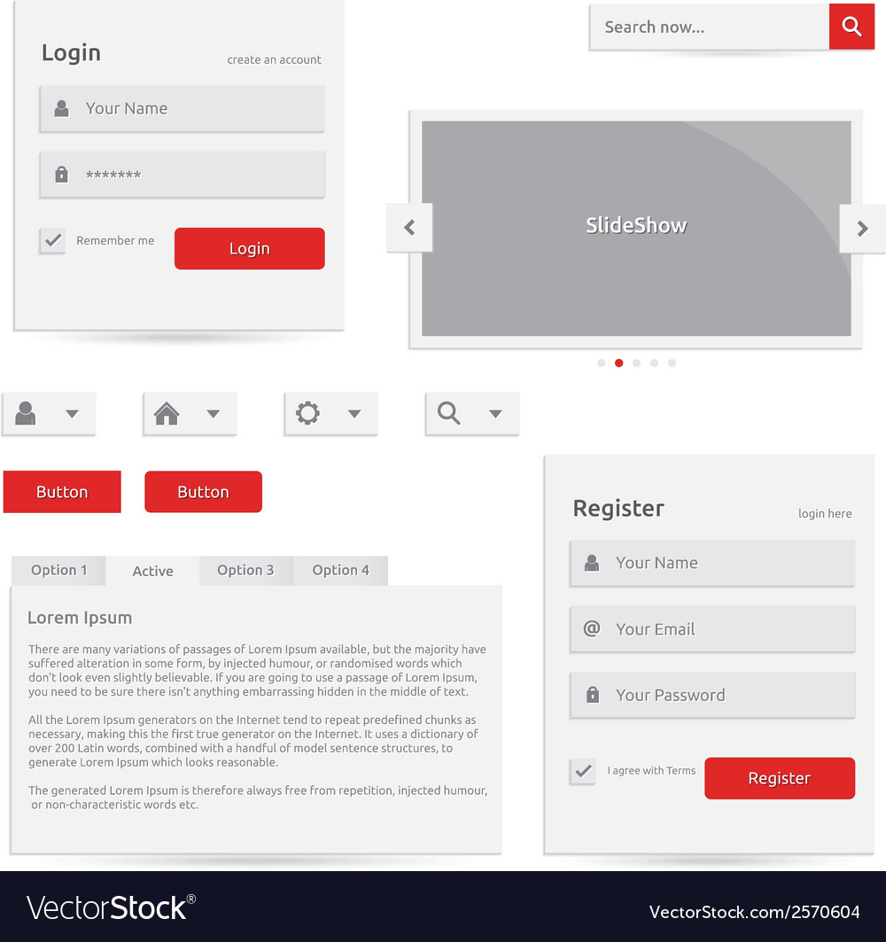 Web template vector