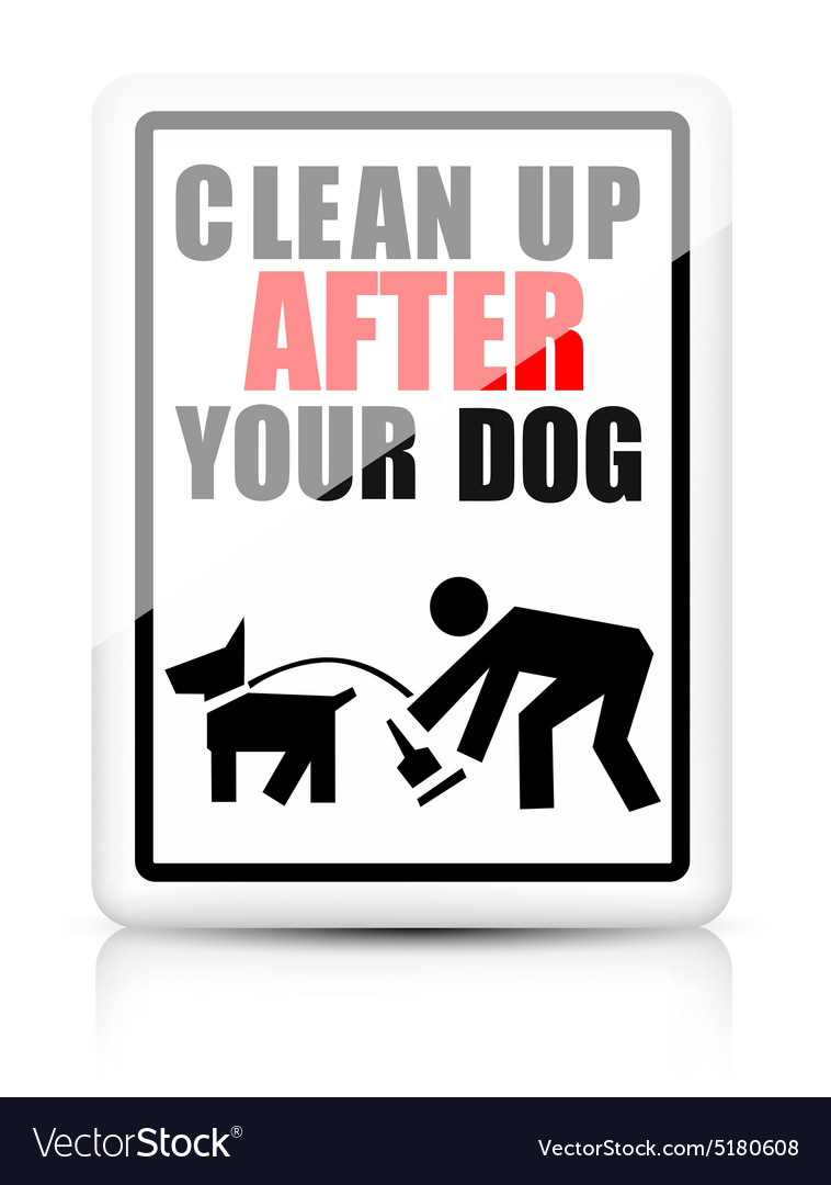 Clean after your dog vector