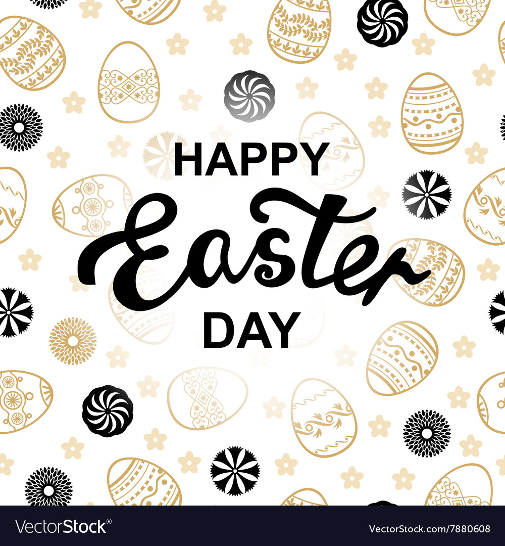 Easter letter pattern vector