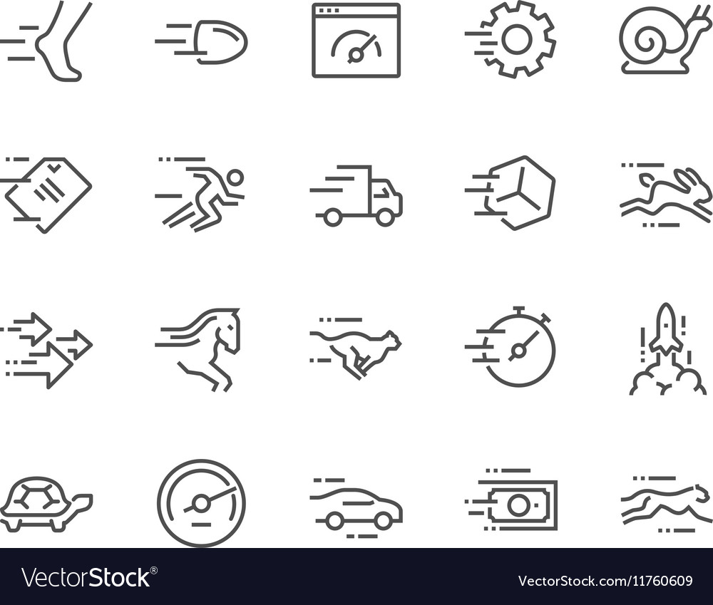 Line speed icons vector