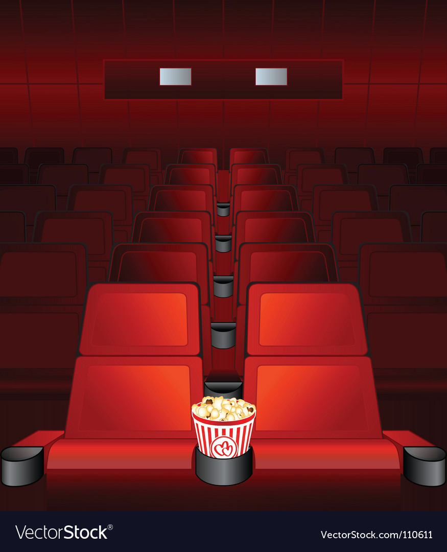 Love seat at movies vector