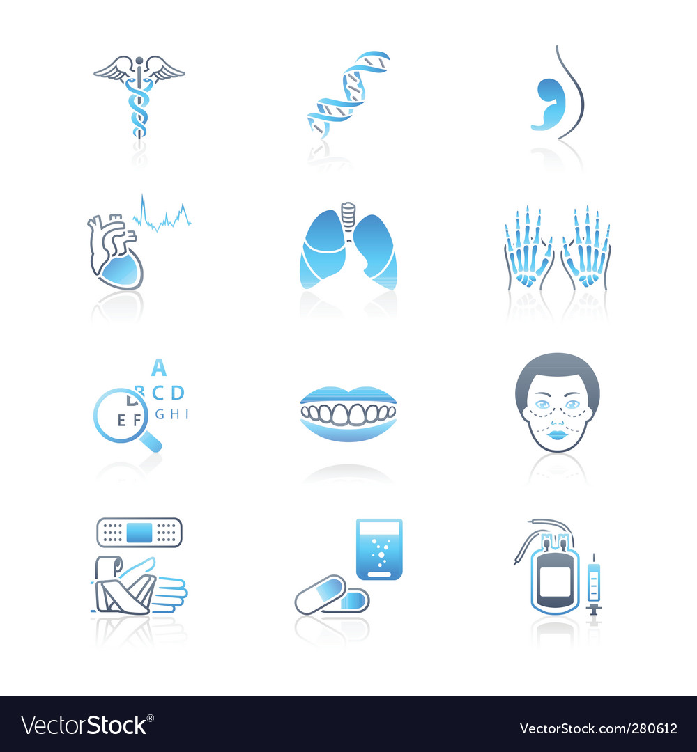 Medicine icons marine series vector