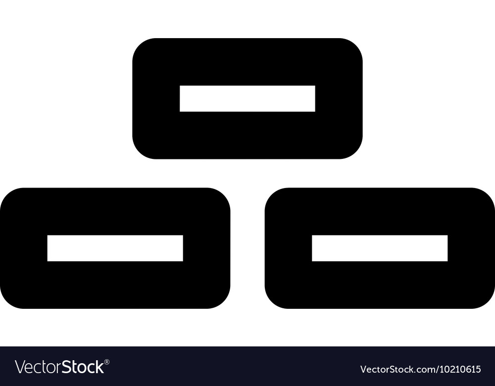 Bricks stroke icon vector