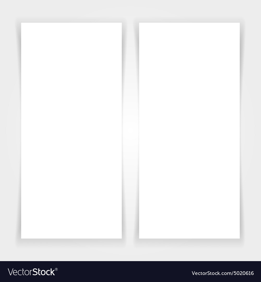 Blank banners mock up set vector