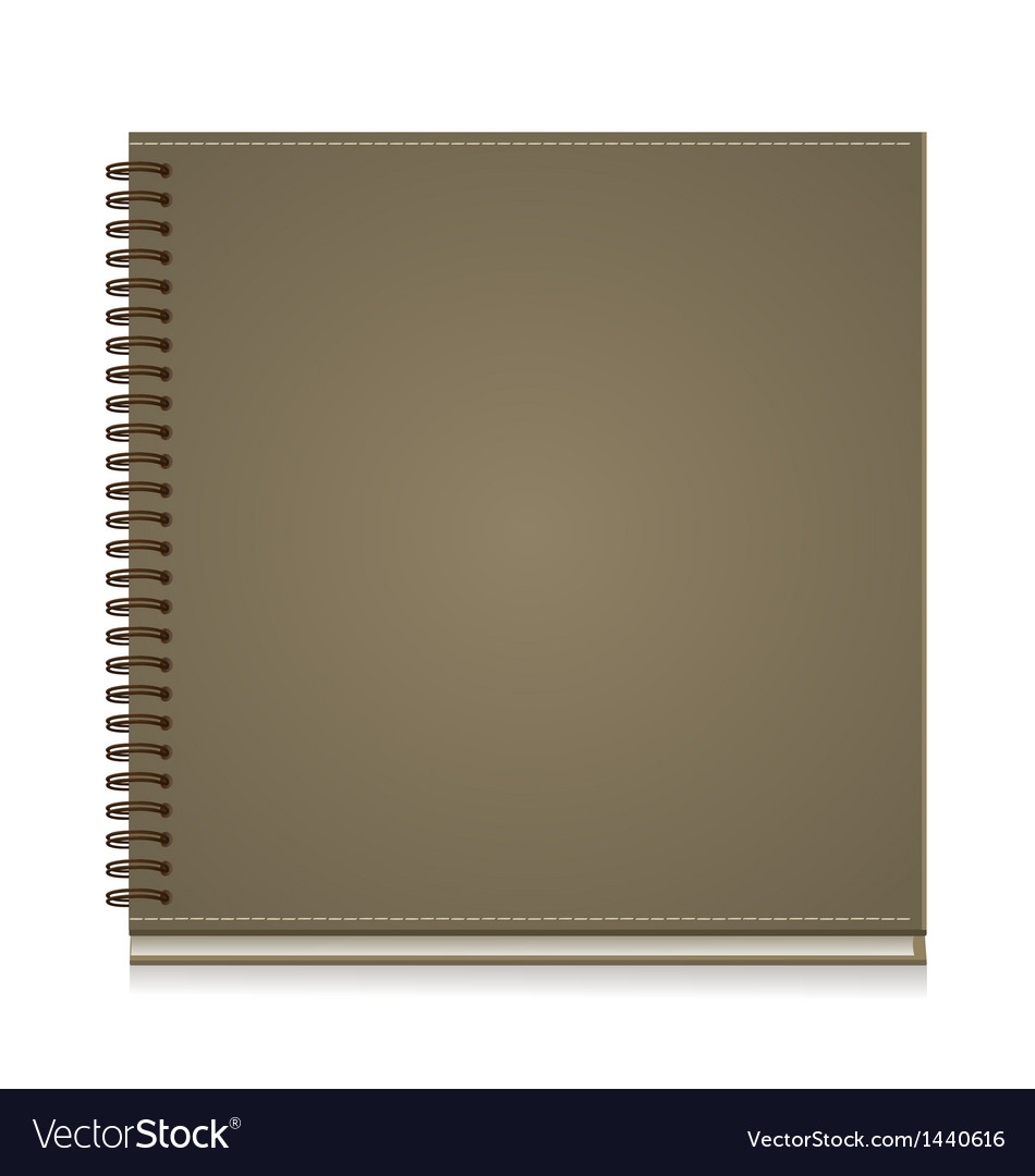 Paper notebook front cover vector
