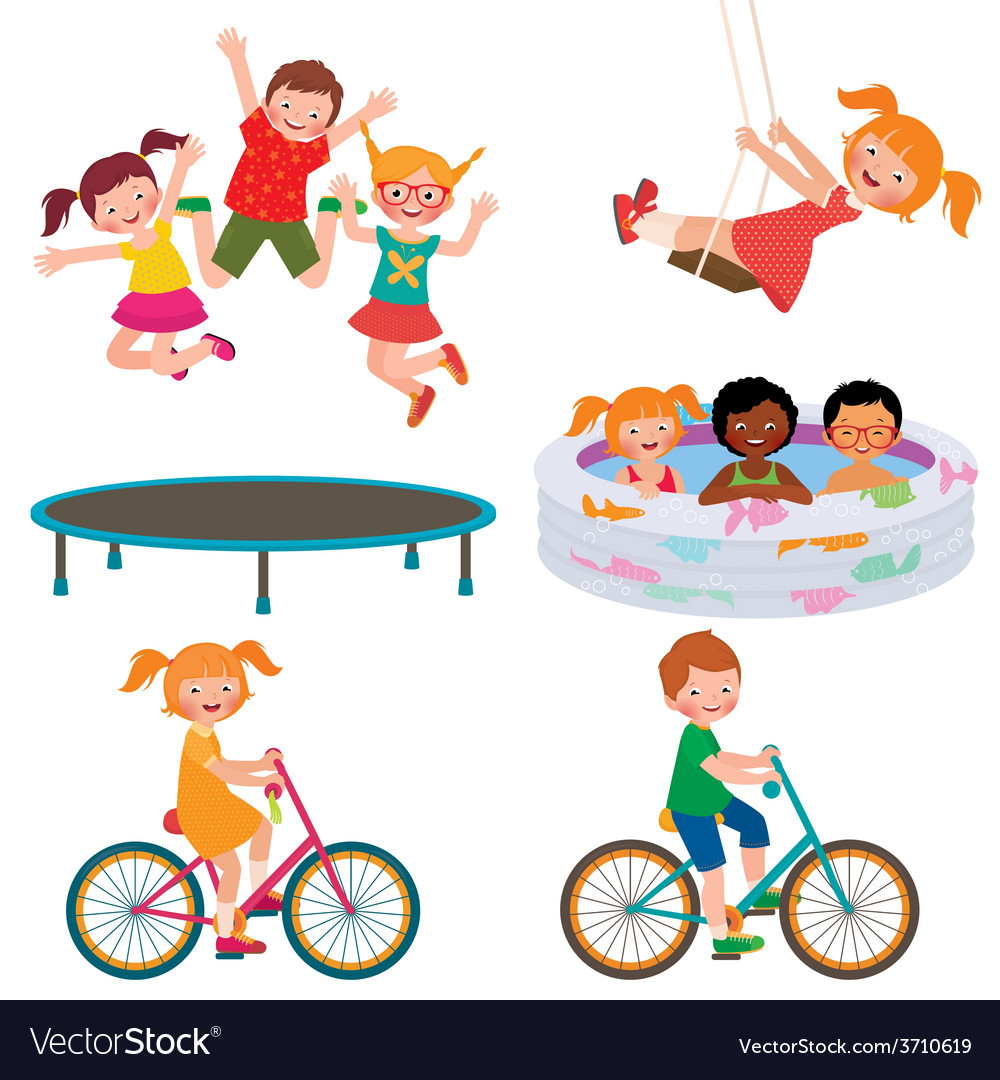 Summer children activities vector