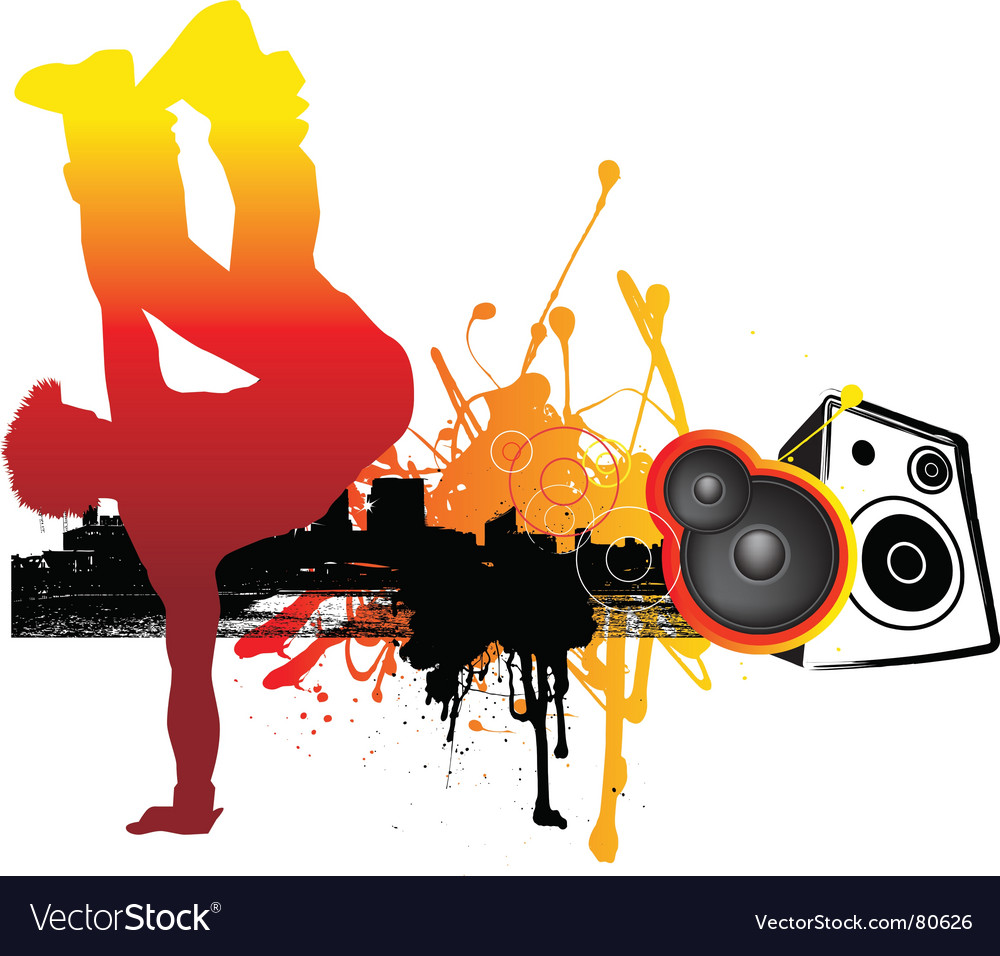 Break dancing vector