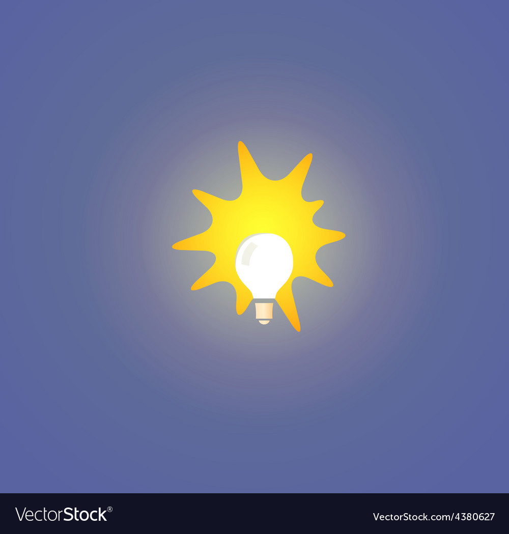 Bulb light on blue background vector