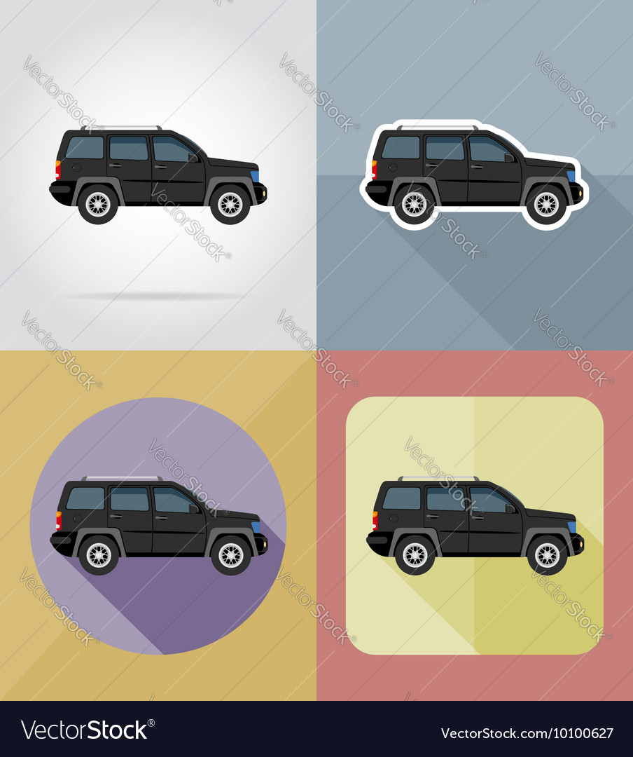 Transport flat icons 06 vector