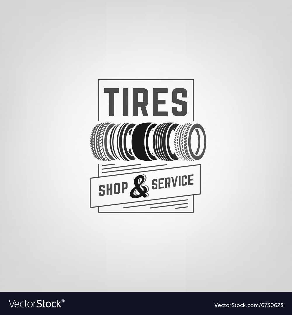 Tires shop logo03 vector