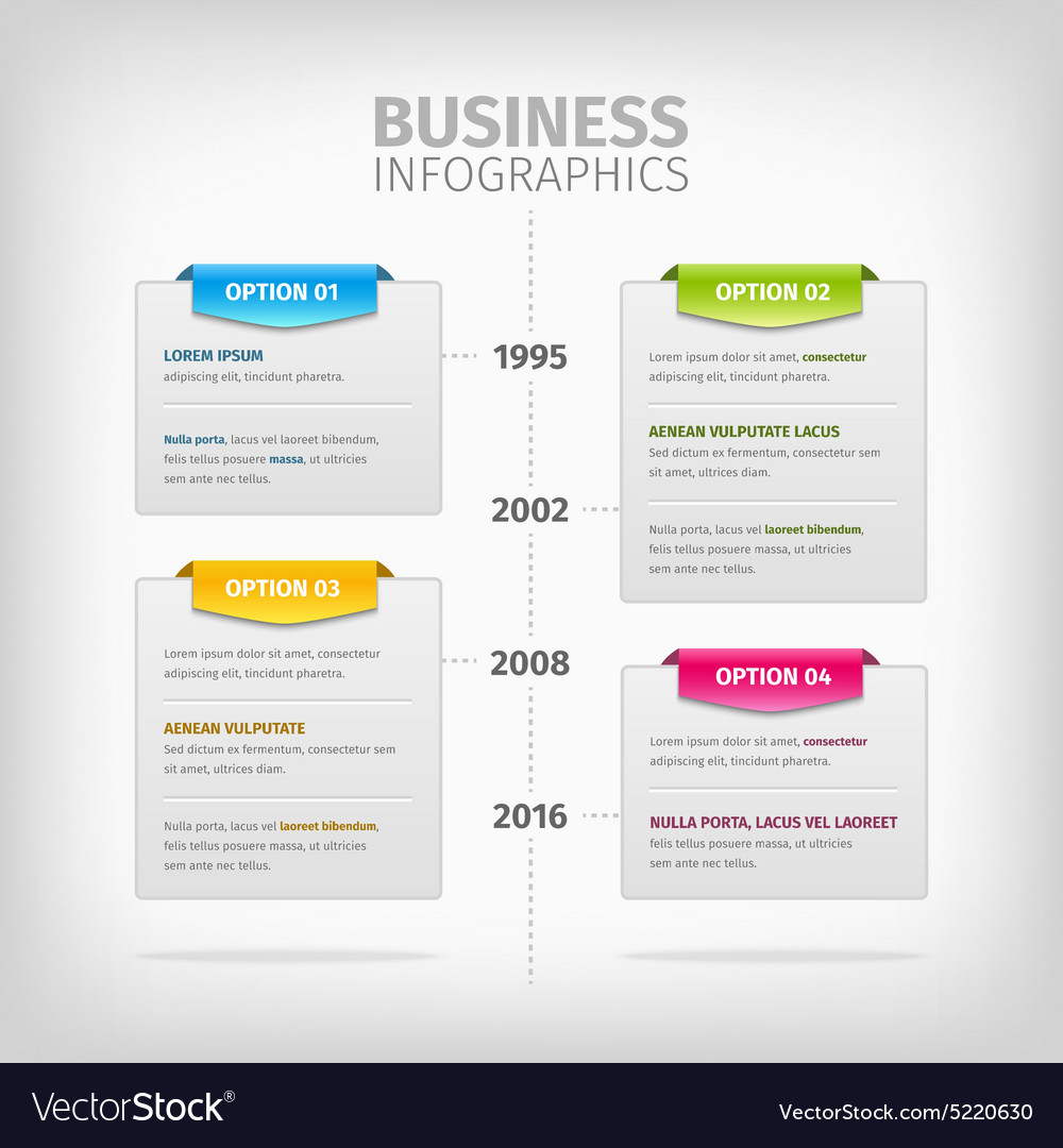 Business infographics with soft gray boxes and vector