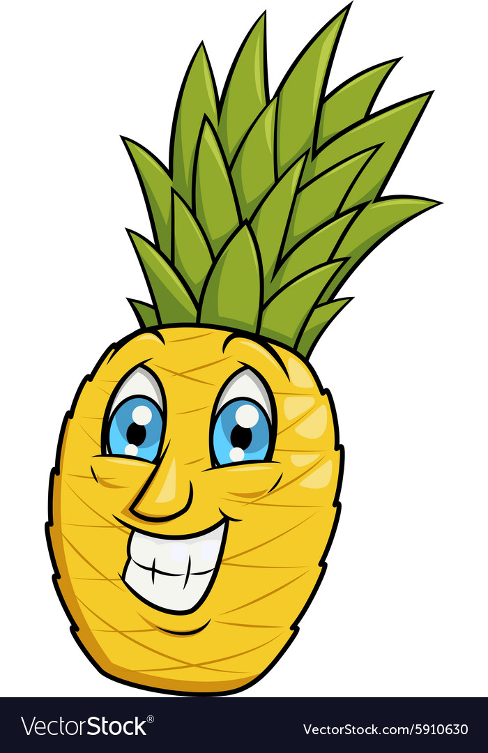 Smiling pineapple 2 vector