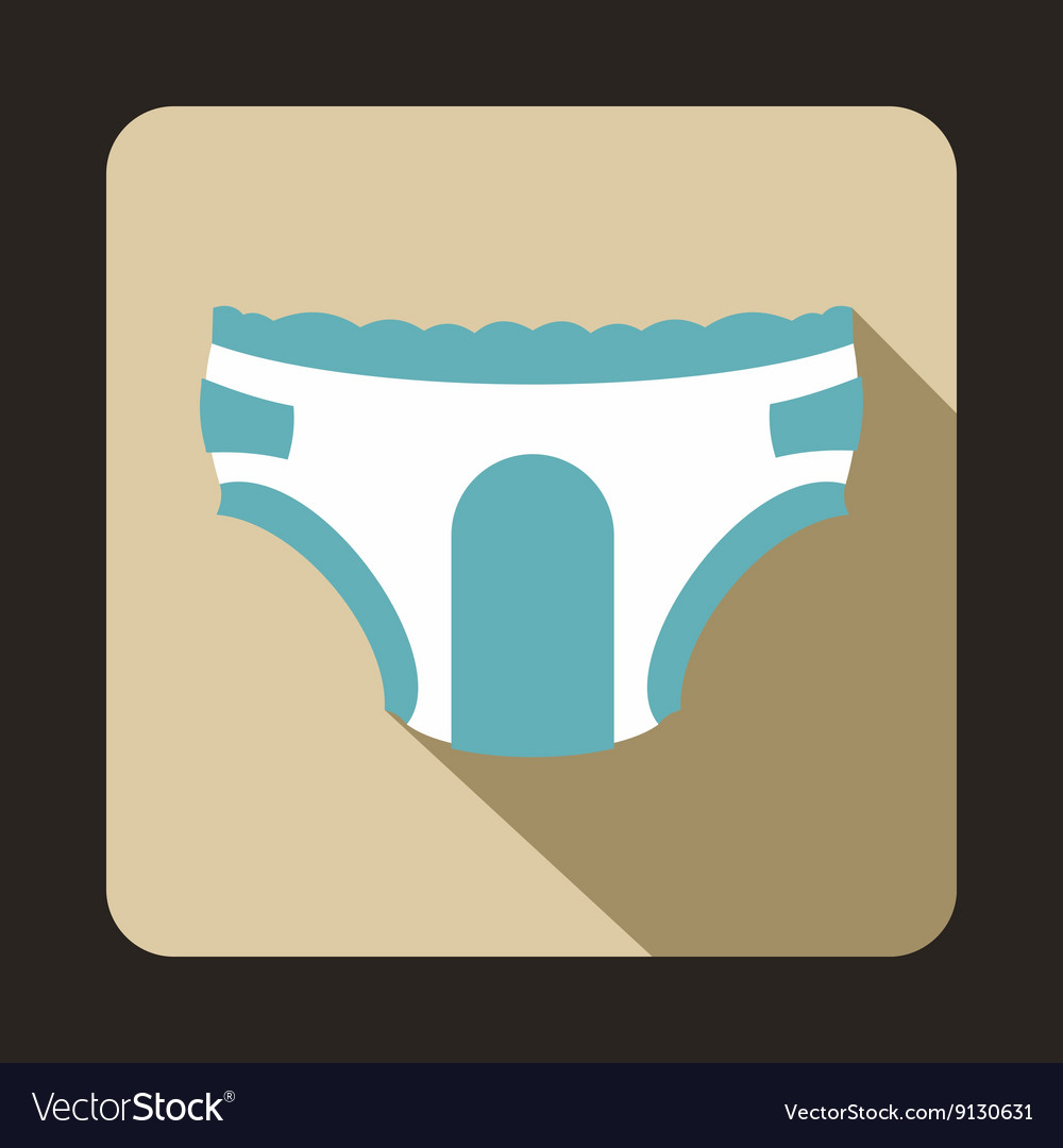 Adult diapers icon flat style vector