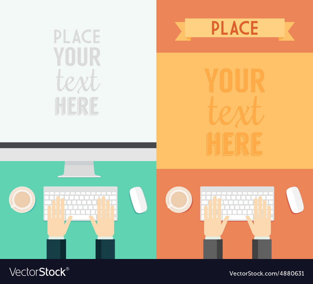 Flat design concepts web banner promotional trendy vector