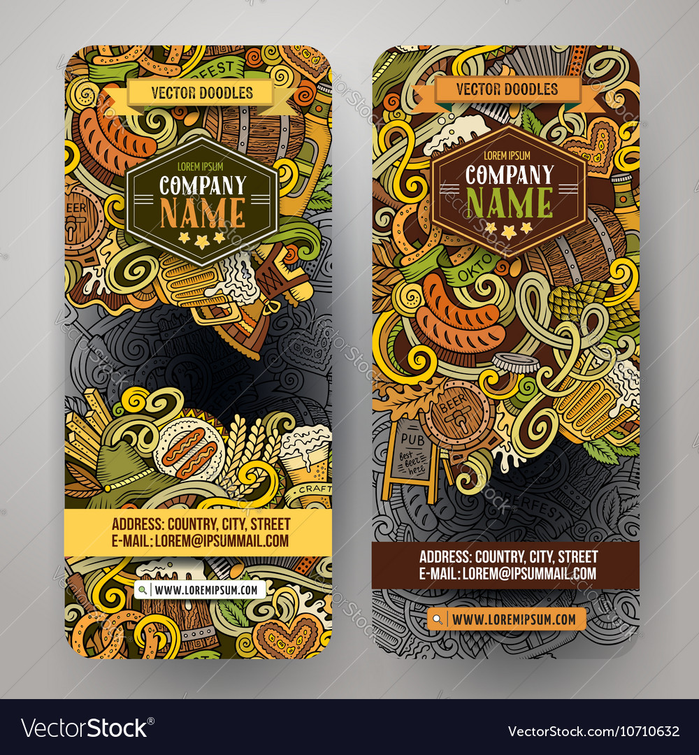 Cartoon hand drawn doodles octoberfest vector