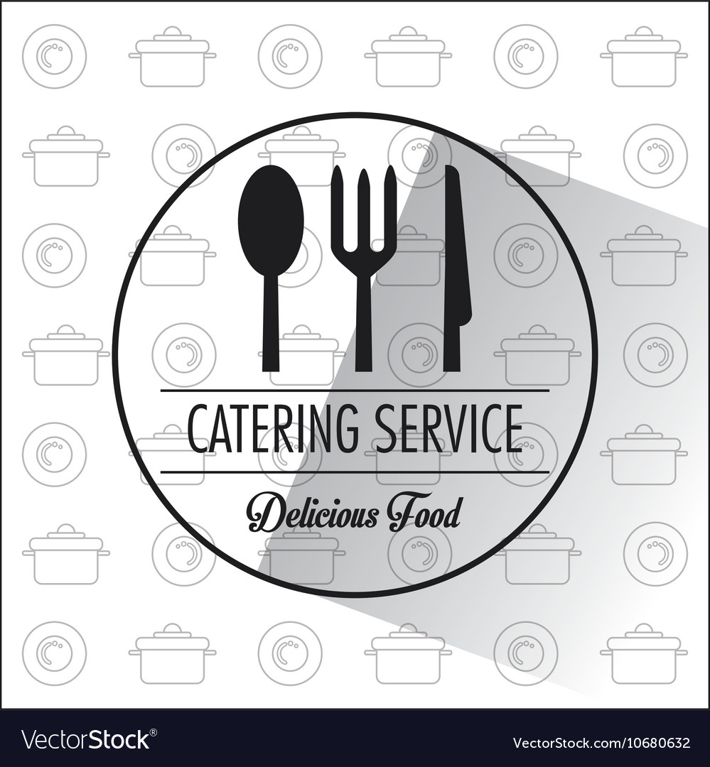 Catering service restaurant and menu design vector