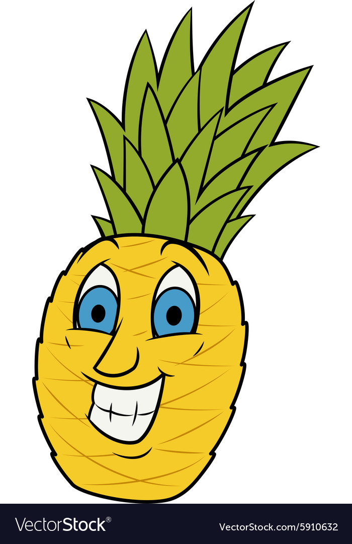 Smiling pineapple vector
