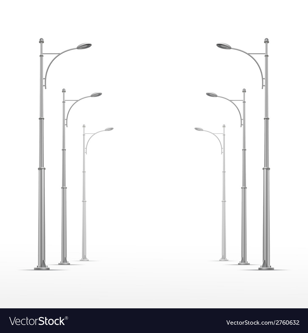 Street lamp isolated on white background vector