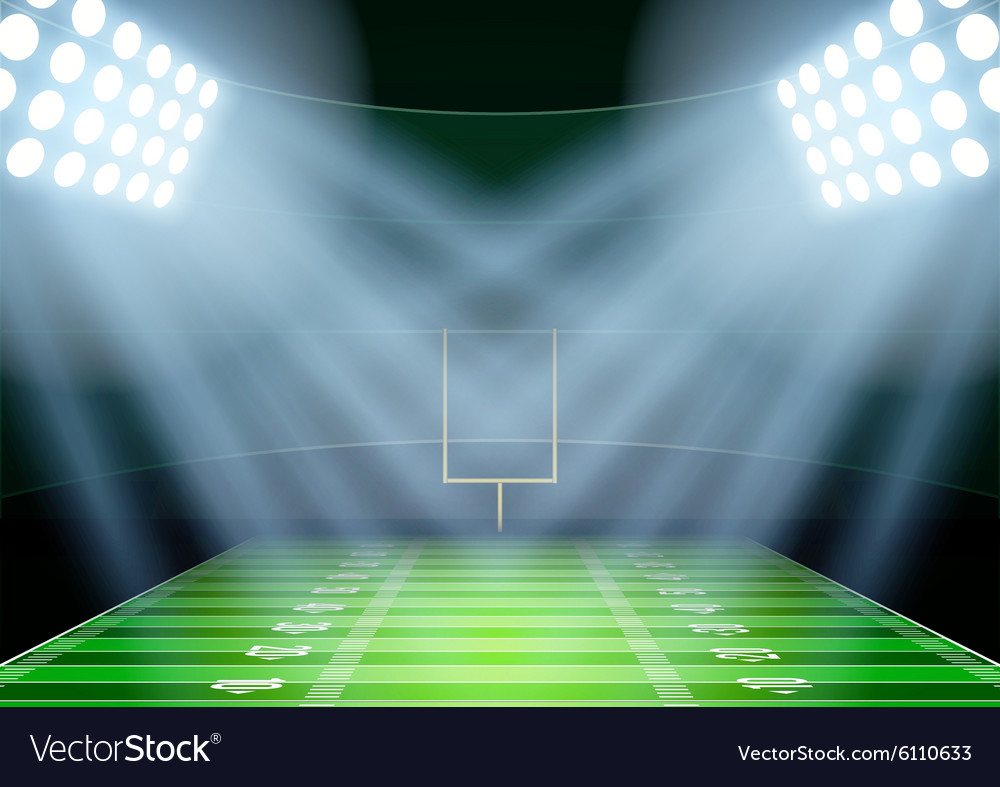 Background for posters night american football vector