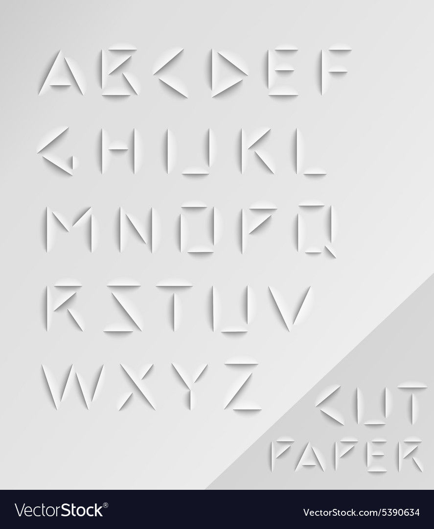 Graphic alphabet set vector