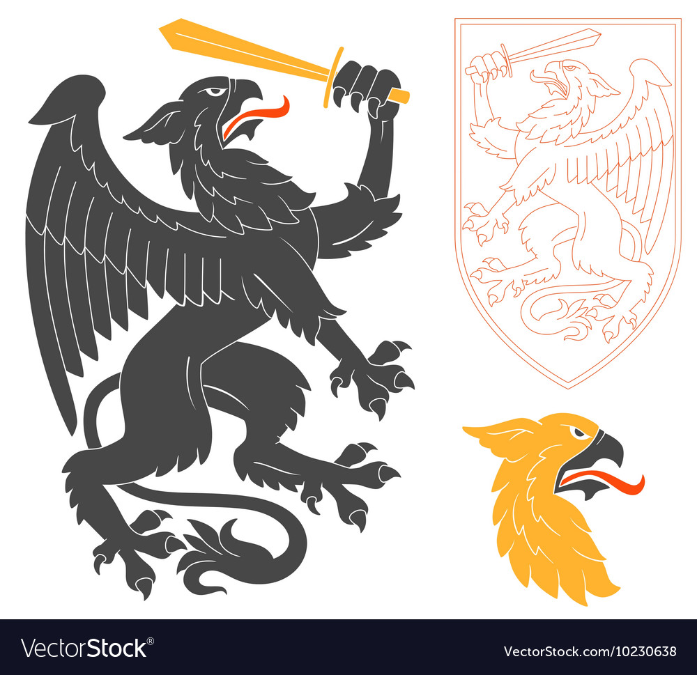 Black griffin vector