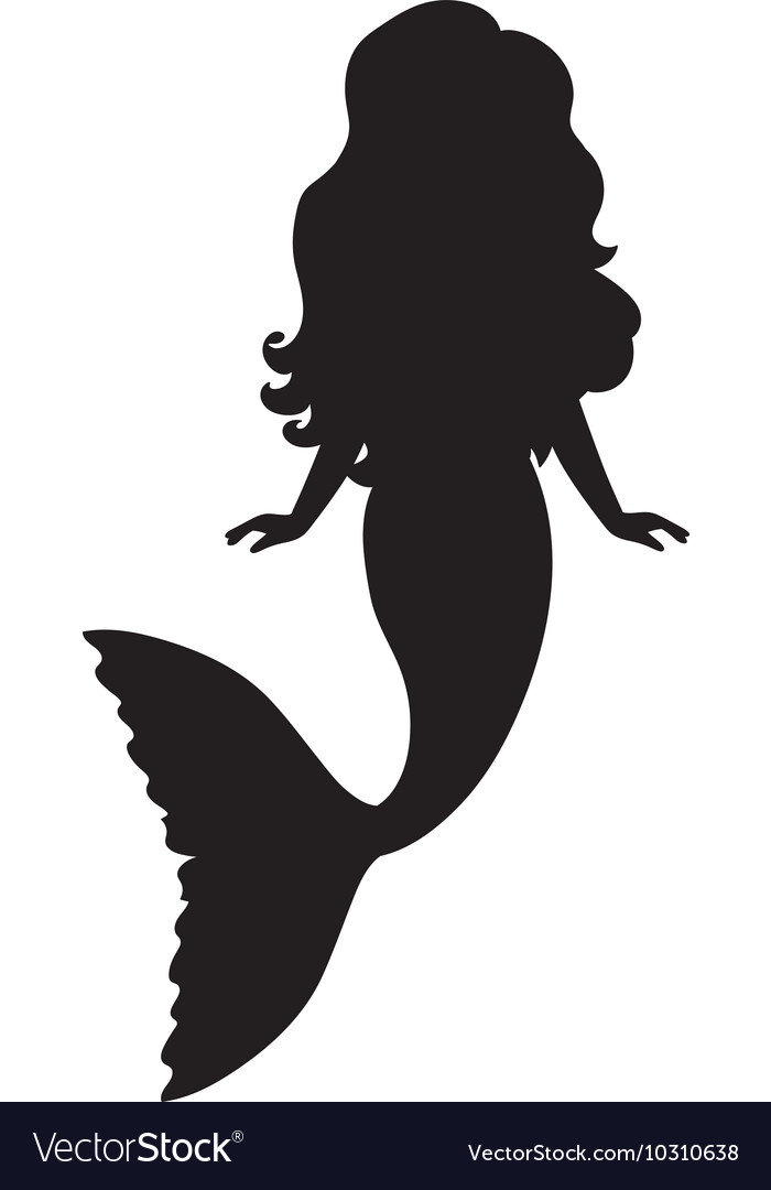 Mermaid silhouette vector
