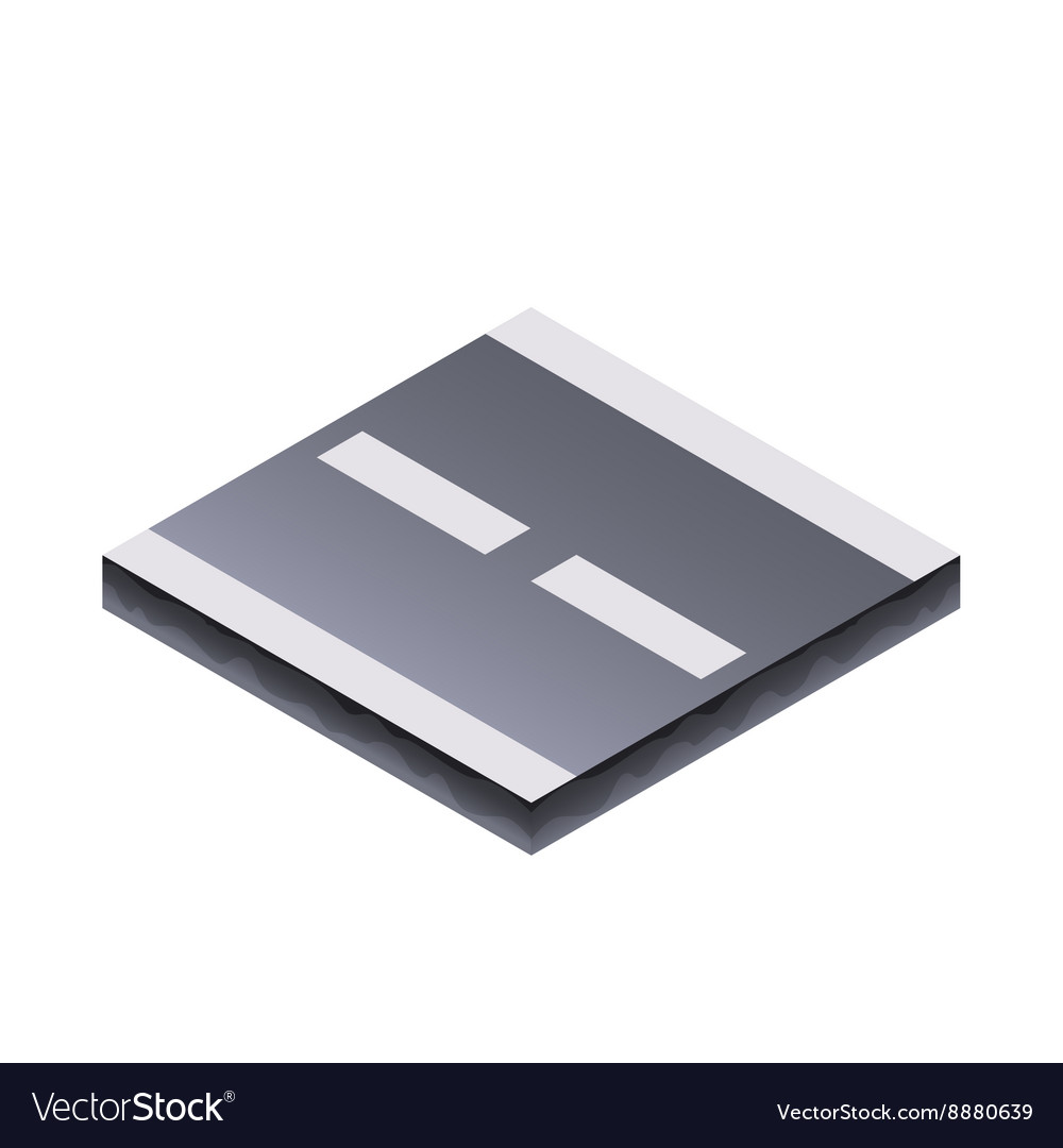 Detailed of an isometric accessories vector