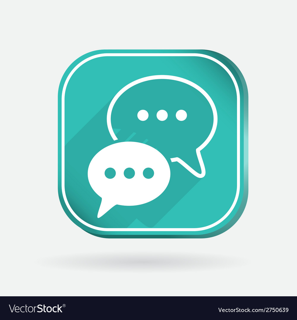 Square icon cloud of speaking dialogue vector