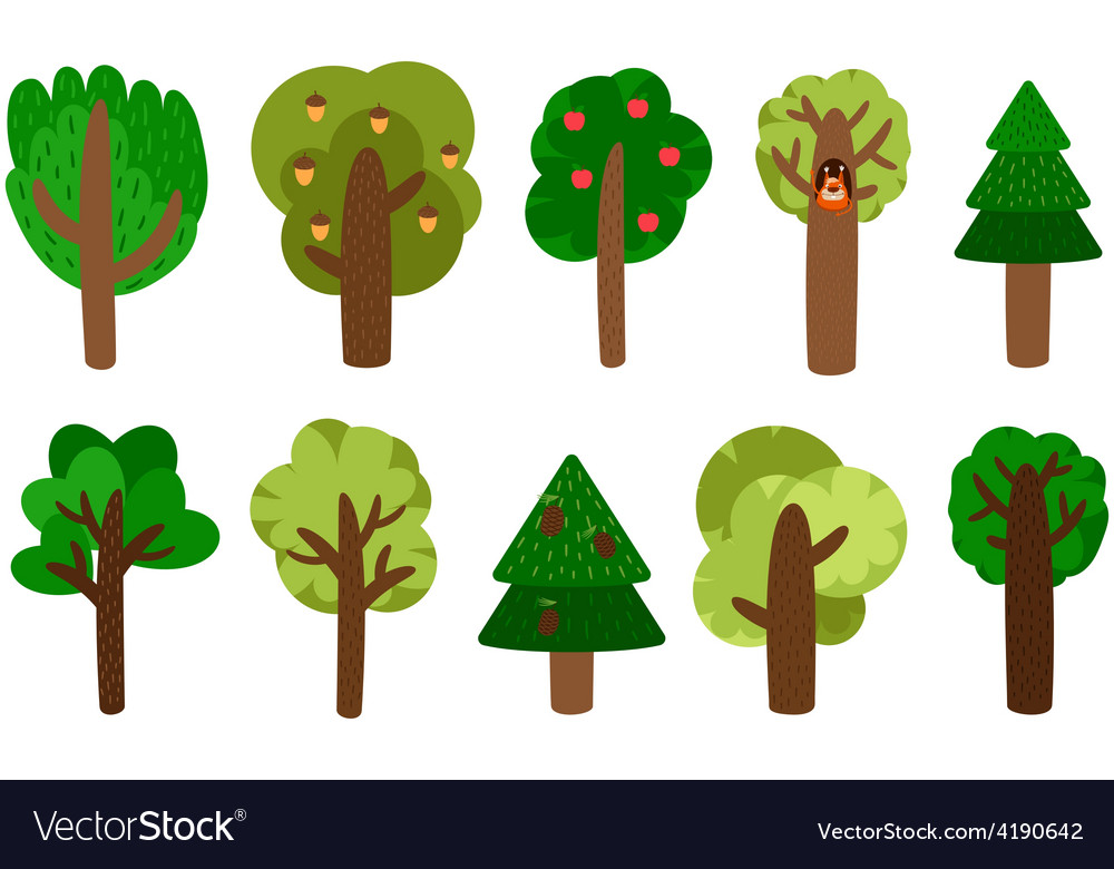 Trees clip art vector